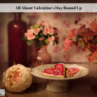 A romantic vintage scene with cookies and roses.