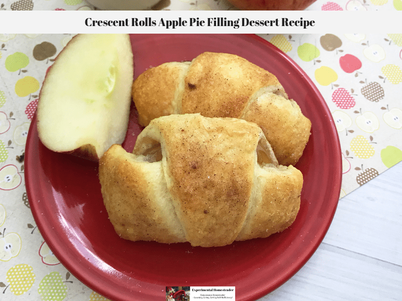 Crescent Rolls Apple Pie Filling Dessert Recipe