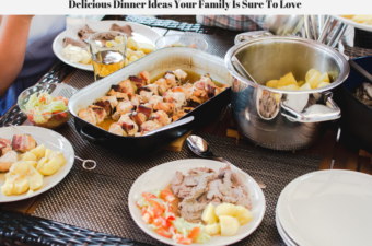 Delicious dinner ideas being served to a family buffet style.
