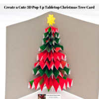 Create a Cute 3D Pop-Up Tabletop Christmas Tree Card