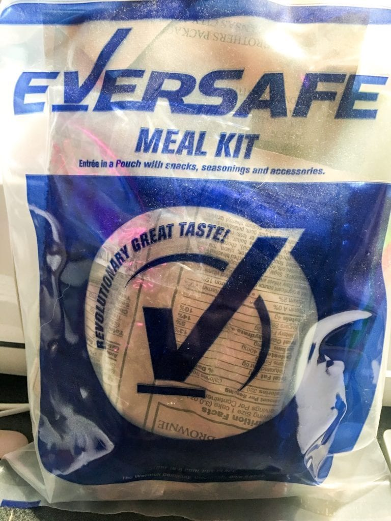 An MRE kit ready to be put in a bug out bag.