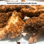 Parmesan Fennel Chicken Tender Recipe completed and ready to eat.