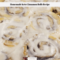 Homemade Keto Cinnamon Rolls Recipe