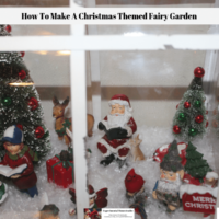 How To Make A Christmas Themed Fairy Garden