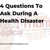 4 Questions To Ask During A Health Disaster