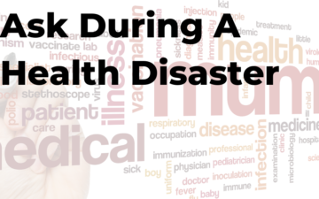 Health disaster words.