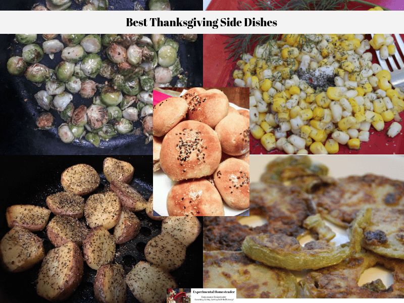 A collage of the best Thanksgiving side dishes.