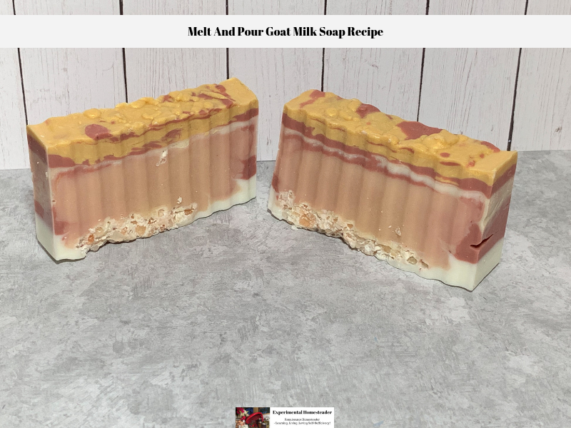 The finished bars of soap made using this melt and pour goat milk soap recipe.