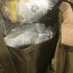 A sneak peek inside the first aid section of a 72 Hour Natural Disaster Survival Kit.