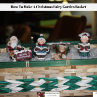 How To Make A Christmas Fairy Garden Basket