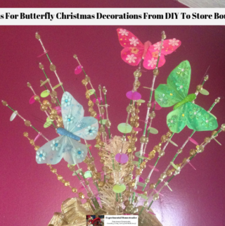 Butterfly Christmas decorations used as a tree topper.