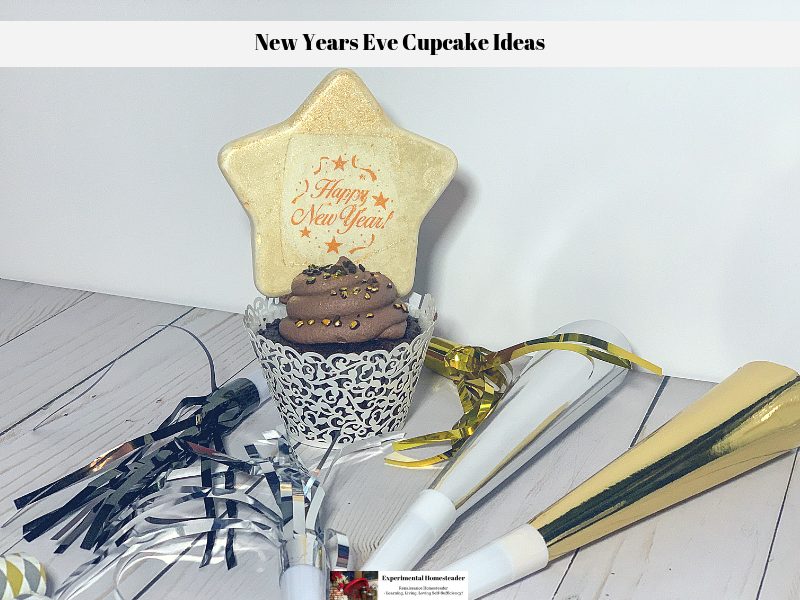 One of the ready to eat New Years Eve cupcake ideas!