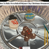 How To Make Oven Baked Polymer Clay Christmas Ornaments
