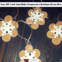 Easy DIY Cork Snowflake Ornaments Christmas Decor Idea