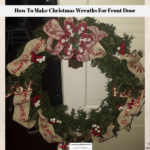 A completed DIY Christmas wreaths for front door decor idea ready to hang.