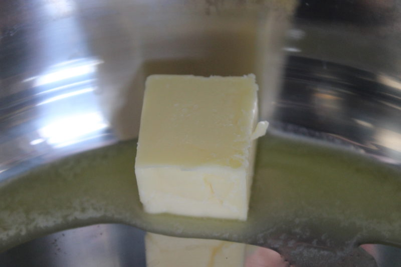 Butter melting in the Instant Pot.