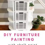 The completed piece using this easy DIY furniture painting chalk paint tutorial.