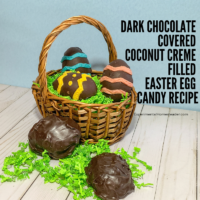 Dark Chocolate Covered Coconut Creme Filled Easter Egg Candy Recipe