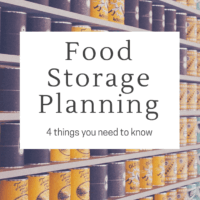 Long Term Food Storage Planning