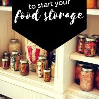 5 steps to Start your Food Storage