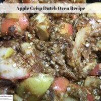 Apple Crisp Dutch Oven Recipe