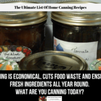 The Ultimate List Of Home Canning Recipes