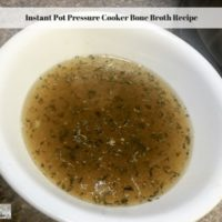 Instant Pot Pressure Cooker Bone Broth Recipe