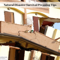 Natural Disaster Survival Prepping Tips