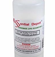 Pure Lye Drain Cleaner / Opener, 2 lbs. Food Grade Sodium Hydroxide Micro Beads