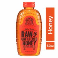 Nature Nate's 100% Pure Raw & Unfiltered Honey; 32-oz. Squeeze Bottle; Certified Gluten Free & OU Kosher Certified; Enjoy Honey's Balanced Flavors, Wholesome Benefits & Sweet Natural Goodness