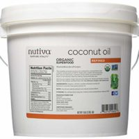 Nutiva Organic, Neutral Tasting, Steam Refined Coconut Oil from non-GMO, Sustainably Farmed Coconuts, 128 Fl Oz