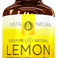 InstaNatural Lemon Essential Oil - 100% Pure & Natural for Premium Oil Diffusers - Best Aromatherapy & Cleaning Aid for Any Living Space - Great for Skincare Recipes Large 4 OZ Bottle with Dropper