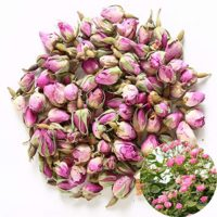 TooGet Fragrant Natural Pink Rose Buds Rose Petals Organic Dried Rosa Damascena Wholesale, Culinary Food Grade - 2 OZ