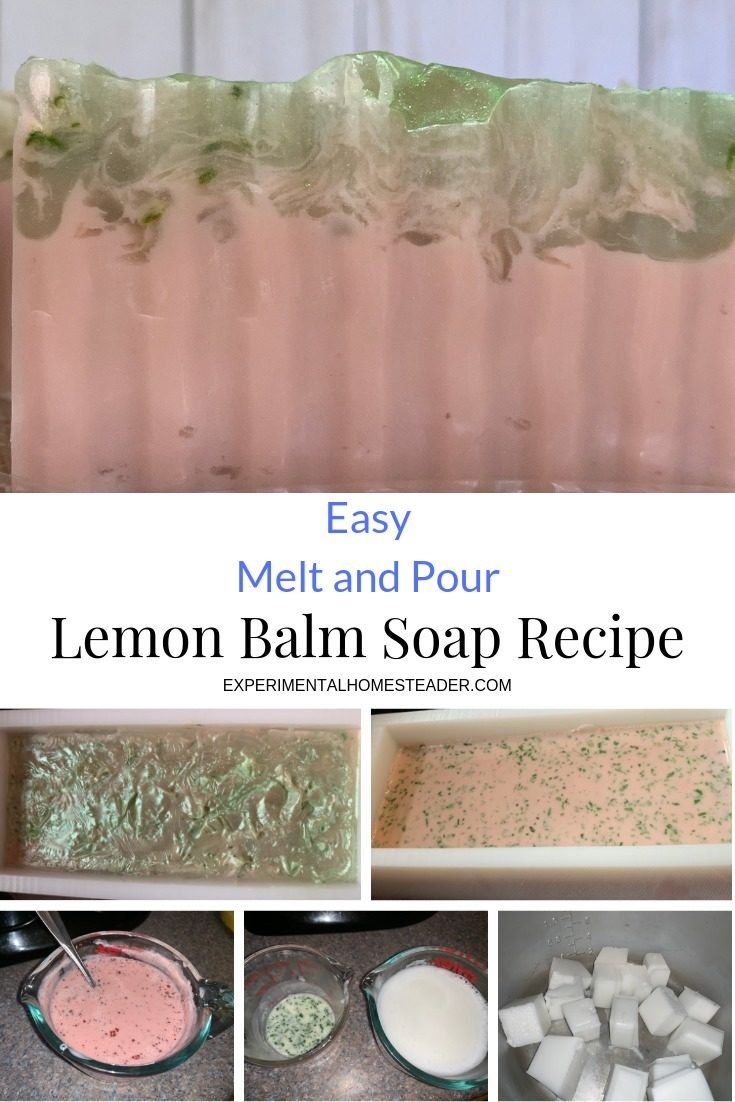 This easy melt and pour lemon balm soap recipe is a great way to use up some of that lemon balm you are growing. It's also an easy recipe for beginners.