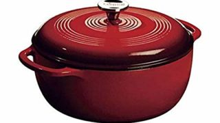 Lodge 6 Quart Enameled Cast Iron Dutch Oven. Classic Red Enamel Dutch Oven (Island Spice Red)