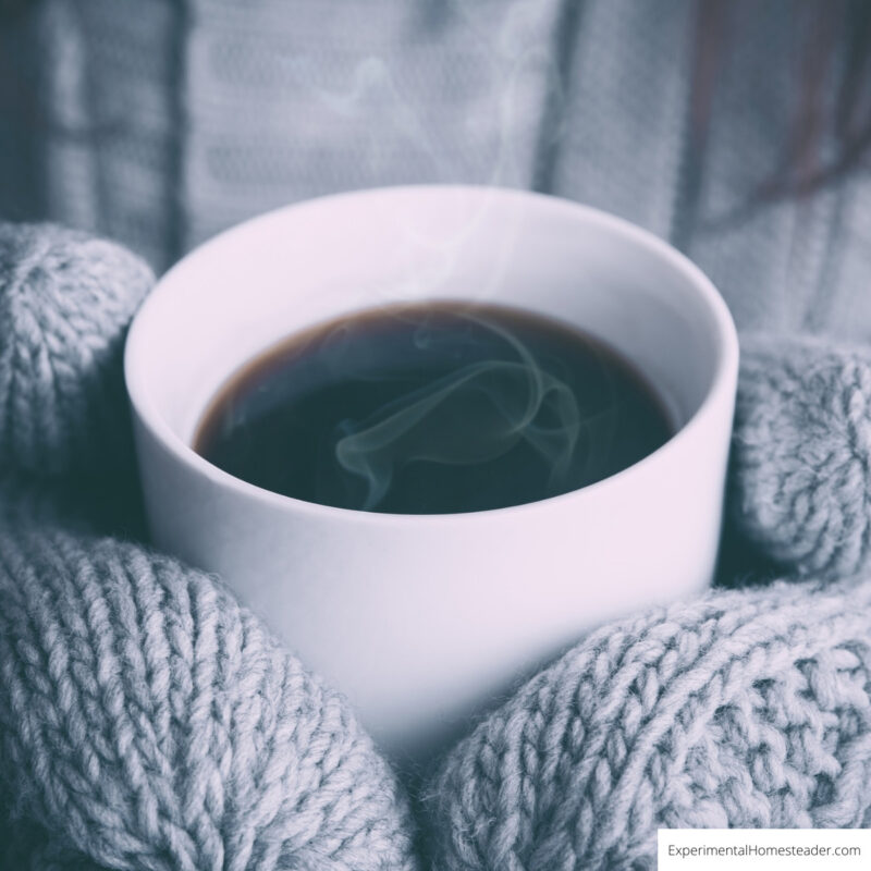 Coffee is not the best way to stay warm in winter because it can actually make you feel colder.