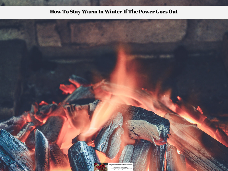 A wood burner or fireplace is a great way to stay warm in the winter and have a way to prepare food when the power goes out.